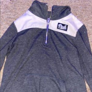crew neck pink hoodie